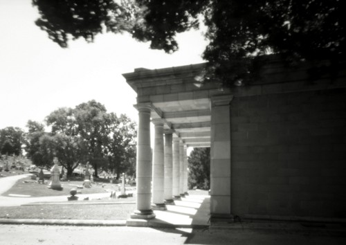 Doorway, Laurel Hill Cemetery, 2008